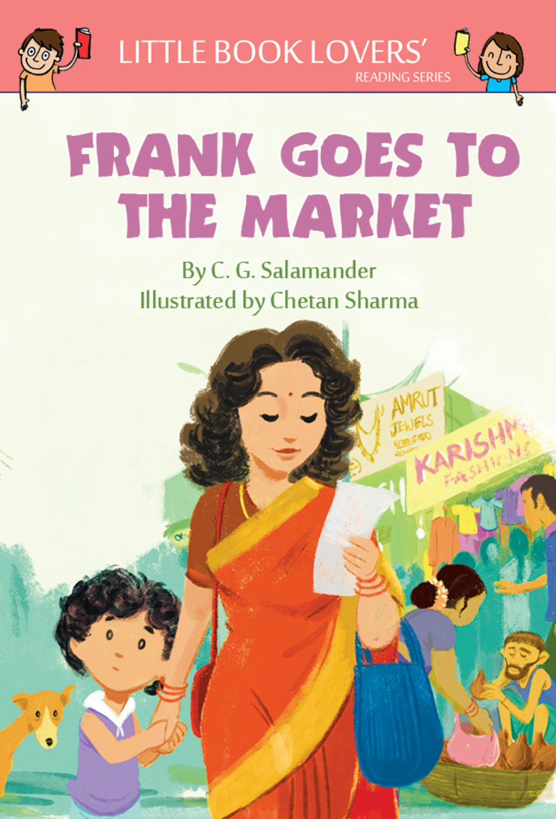 Artwork from 'Frank's Trip to the Market' book.