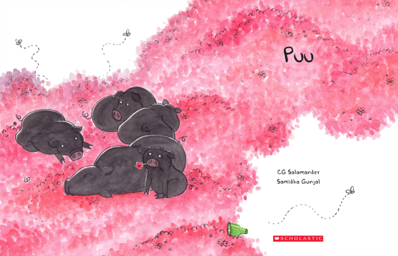 Artwork from 'Puu' book.