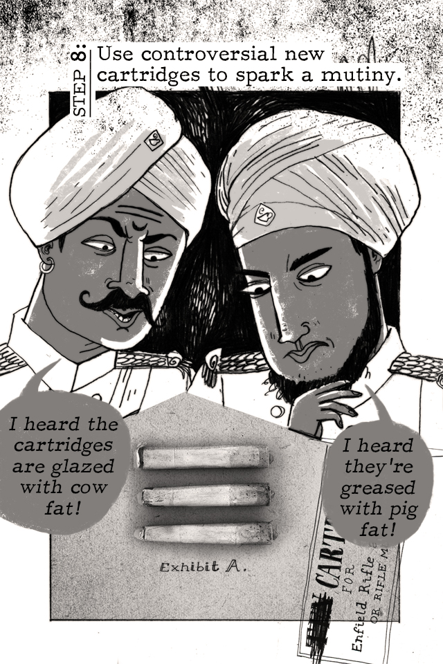 Artwork from 'Colonizing India in 10 Easy Steps' comic.