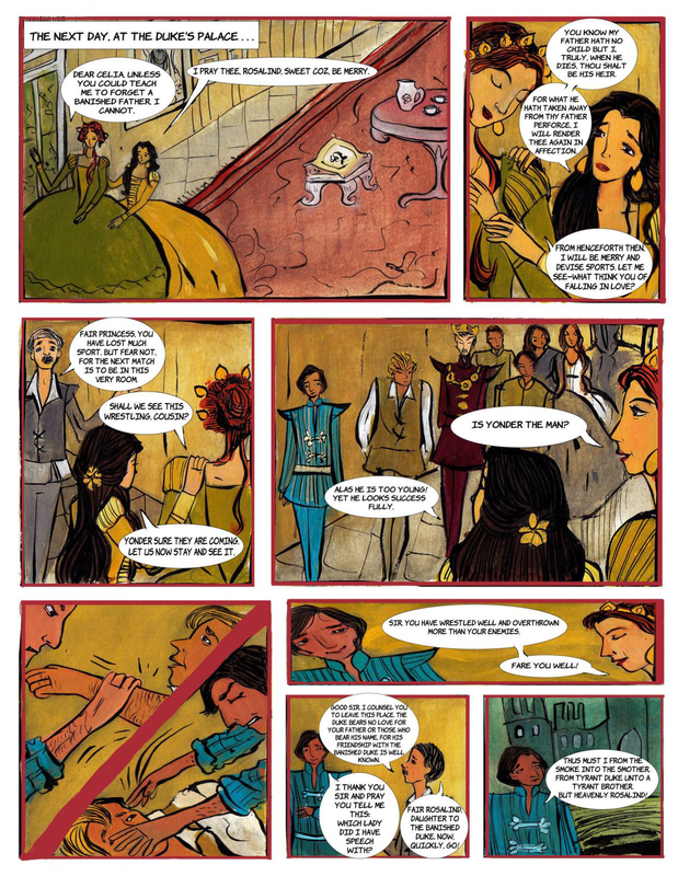 A page from As You Like It comic