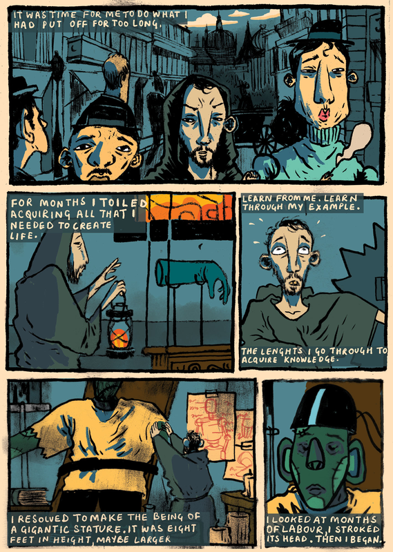 A page from Frankenstein comic