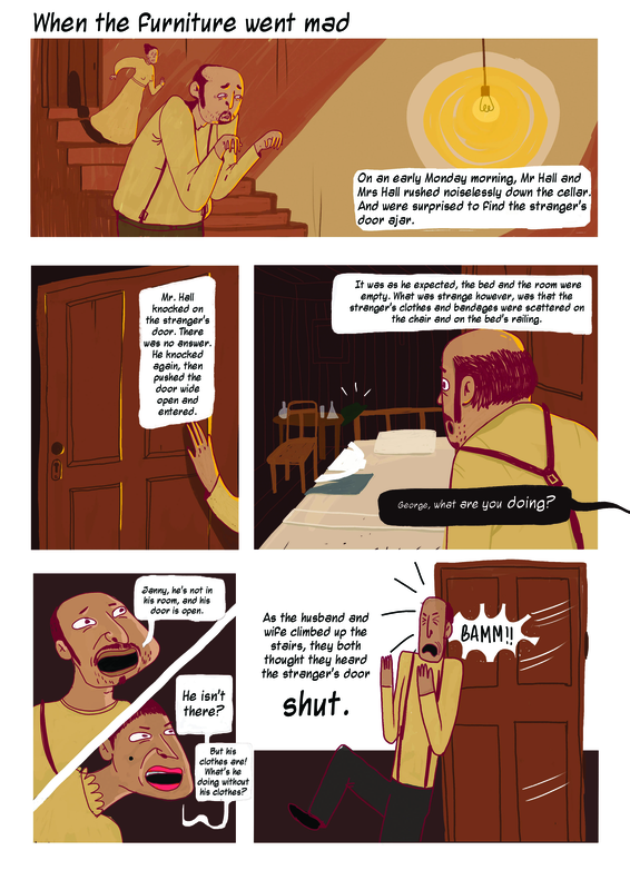 A page from Invisible Man comic