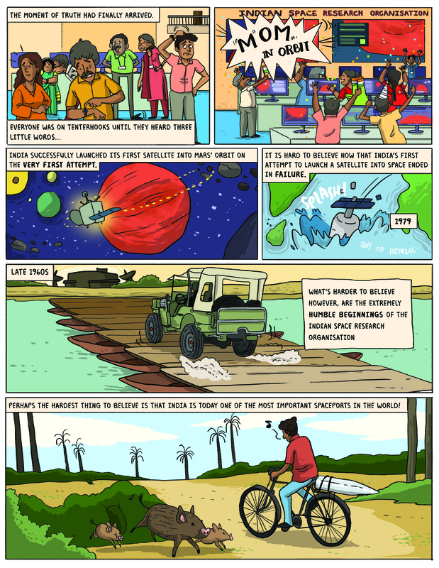 A page from ISRO comics comic